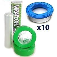 Envase y forro para pañal recargable compatible