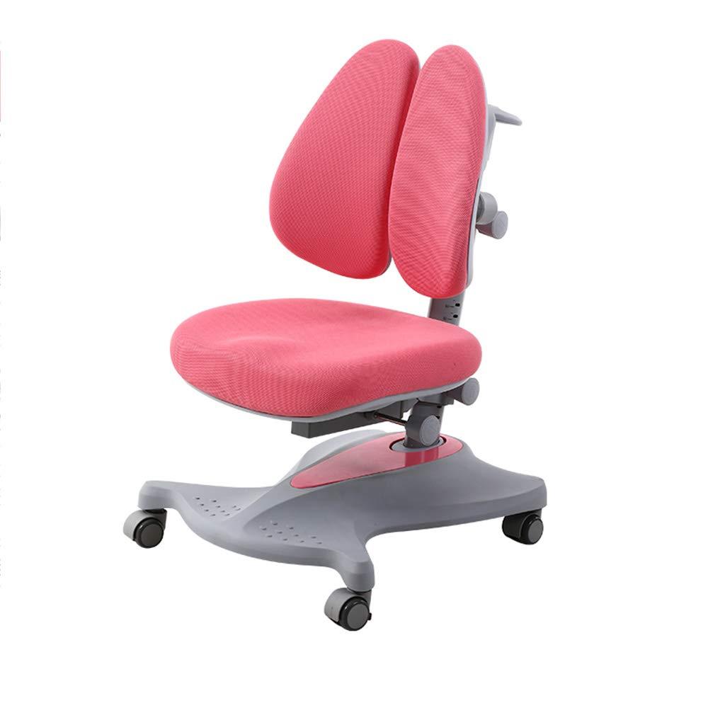 Huifang Corrective chair QFFL jiaozhengyi Korrekturstuhl Liftable Sitzhaltung Korrektur Stuhl Lernen Stuhl Home Computer Schreibtisch Stuhl 2 Farben Optional (Farbe   Rosa, größe   2 ) Rosa