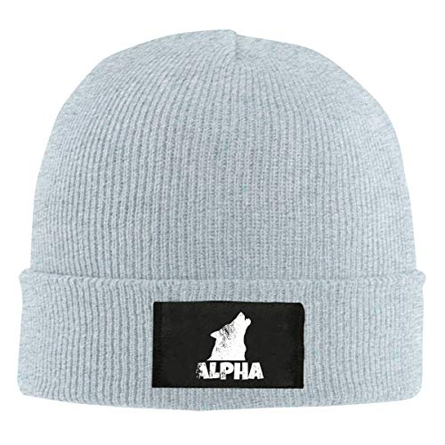 - Unisex Alpha Lone Wolf Skull Hats Knit Cap Winter Warm Cap Beanie Hats