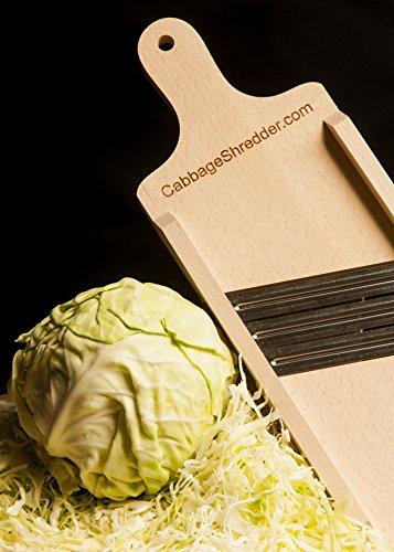 Cabbage Shredder & Slicer for Finely Cut Sauerkraut and Coleslaw. Compact Size. Super Fast Shredding, Slicing.