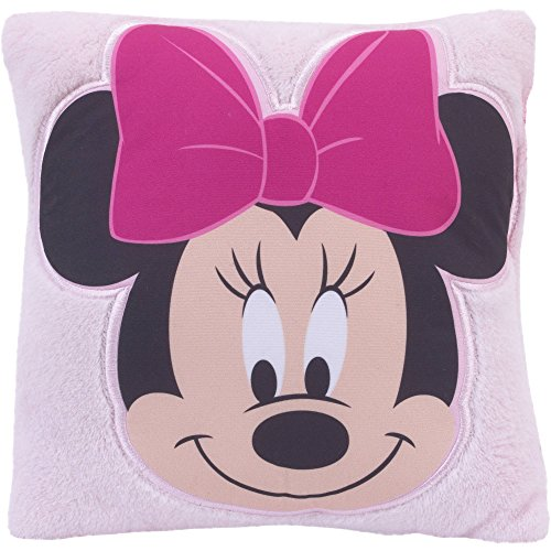 [New Disney Minnie Mouse Decorative Accent Plush Pillow for Nursery Room Decor] (Home Made Angel Costumes Kids)