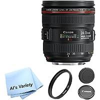 Canon EF 24-70mm f/4.0L IS USM Standard Zoom Lens AL'S VARIETY Premium Lens Bundle