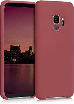 kwmobile Coque Compatible avec Samsung Galaxy S9 - Coque Étui Silicone - Housse de téléphone Brique