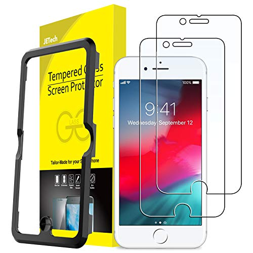 JETech Screen Protector for Apple iPhone 8, iPhone 7, iPhone 6s, iPhone 6, 4.7-Inch, Tempered Glass Film with Easy-Installation Tool, 2-Pack by JETech