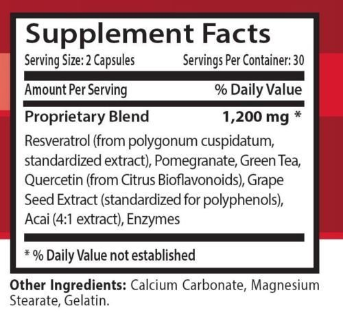 Organic Resveratrol Extract Resveratrol Supreme 1200 MagicPromotes Healthy Weight Management Efficiently Helps Fight Fatigue Helps Increase Fat Oxidation Natural Anti-Oxidant Blend 1 Bott Discount