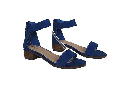 2238ee0e606 Lucky Top Vision 1k Little Girls Block Heel Pump Summer Sandals Royal Blue  11