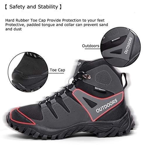 ziitop Chaussures de Randonnée Homme Bottes Tactiques pour Hommes Chaussures de randonnée et de Trekking à Taille Haute… 5