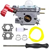 Hilom Carburetor with Screwdriver for Craftsman Troybilt TB2044XP MS2550 MS2560 TB2040XP Yard Machine Gas Trimmer Weed Eater Wacker Leaf Blower 27cc MTD 753-06288 Cadet Zama C1U-P27
