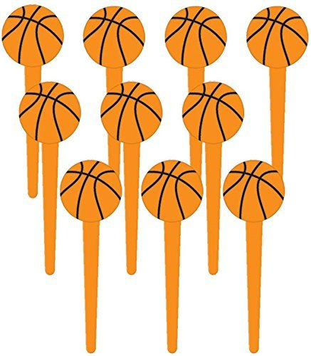 Basketball Cupcake Picks (Value Pack: 72 Count) by Amscan