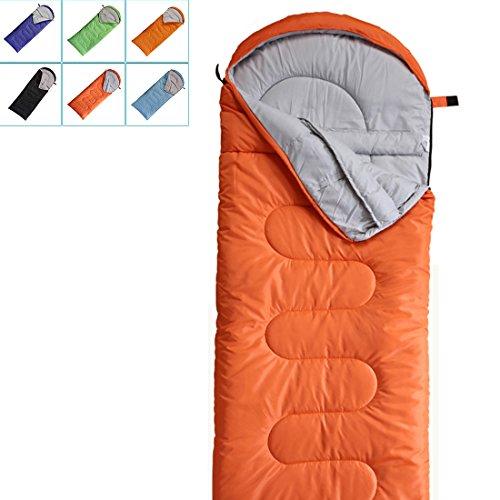 Camping Sleeping Bag-EnvelopeMummy Outdoor Lightweight Portable Waterproof Perfect for 0 degree Traveling,Hiking Activities(Mandarin Red / Left Zip, (Blue Womens Sleeping Bag)