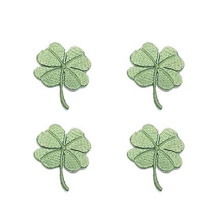 Amazon com: BESTOYARD 4pcs Green Four Leaf Clover Patches Embroidery