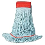 Unisan UNS 1400L Large 100 Percent Recycled PET Cotton Blend Echo Loop Mop - Blue