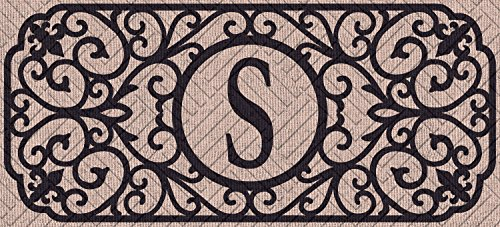 Evergreen Flag 431241SBL Filigree Monogram Letter S Embossed Sassafras Switch - Monogram Filigree