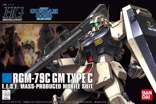 Bandai Hobby 113 RGM-79C GM Type C HGUC Action Figure (1/144 - Type Gm C
