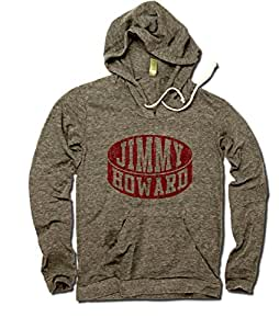 Jimmy Howard Detroit Women's Hoodie Jimmy Howard Puck S Eco Gray