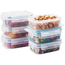 Komax Biokips Food Storage Snack Container 15oz. (set of 6) - Airtight, Leakproof With Locking Lids - BPA Free Plastic - Microwave, Freezer and Dishwasher Safe - Small Size to Store in Pantry