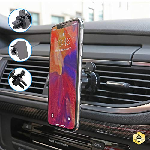 Unique Silicone Car Air Vent Mount Holder For Smartphones LG For Samsung Saza Electronics S039 Universal Magnetic Phone Holder iphone New Technology 360 Degree Rotating Car Phone Holder Nokia,