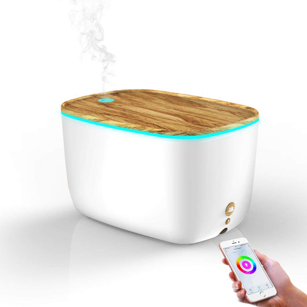 2000ml Smart WiFi Essential Oil Diffuser, Works with Alexa Google Home App, Ultrasonic Cool Mist Humidifiers Smart App Control, Waterless Auto-Off Aromatherapy Diffusers for Bedroom, Office
