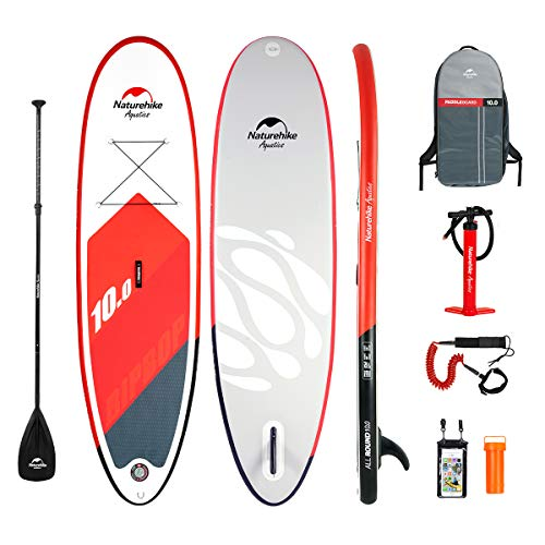 Naturehike Premium Inflatable Stand Up Paddle Board 5 6 inches Thick with SUP Accessories Carry Bag Wide Stance, Bottom Fin for Paddling, Surf Control, Non-Slip Deck