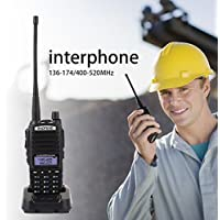 Hanbaili Wireless Handheld UV-82 136-174/400-520MHz Ham Two Way Radios FM Walkie Talkie Transceiver Intercome Interphone