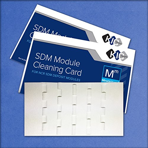 SDM Module Cleaning Card For NCR SDM Deposit Module (15 Cards) (15) by Waffletechnology