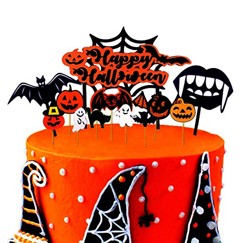 Bozoa Halloween Cupcake Toppers/Cake Picks For Cup cake Decorations Halloween Party Favors -