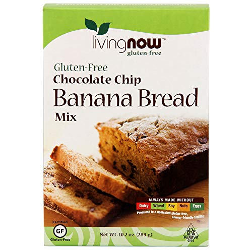 - NOW Foods, Chocolate Chip Banana Bread Mix, Gluten-Free, No Added Flavors, Colors, Sweeteners or Hydrogenated Oils, 11.3-Ounce