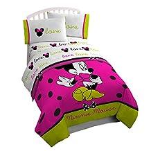 Disney Minnie Mouse 4 Piece Neon Full Sheet Set