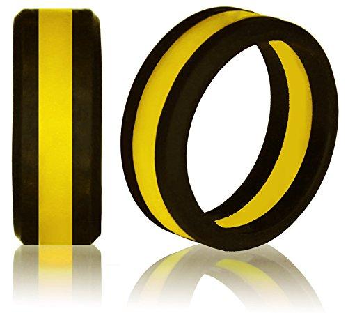 Knot Theory Yellow Line Silicone Wedding Ring Size 8 Angular Award