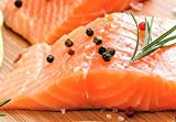 Atlantic Salmon, Portion, Pin Bone Out, Individually Vacuumed Packed, Frozen, Total of 10 LBS Packed in 6 Oz Portions