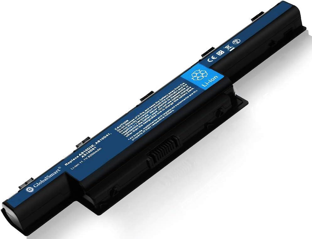 Globalsmart Batería para portátil Alta Capacidad para Acer TravelMate 5760G 6 Celdas Negro: Amazon.es: Electrónica