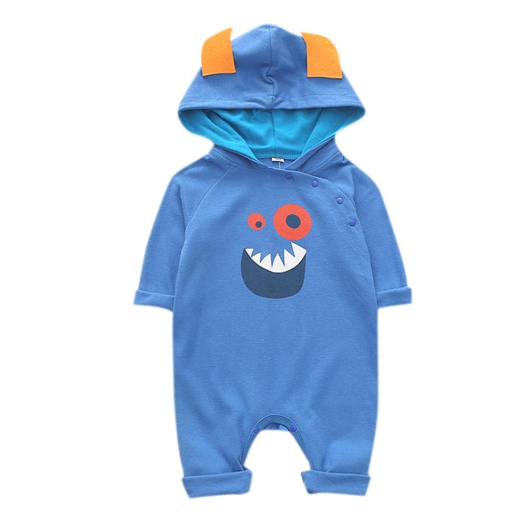 Fional Infant Long Sleeve Romper Stay?Golden Newborn Babys 0-24M Organic Cotton Jumpsuit Outfit