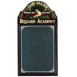RAM Gameroom Products Pub Sign with Chalkboard, Billiard Academy
