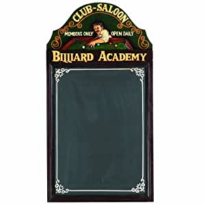 "RAM Gameroom Products Pub Sign with Chalkboard, ""Billiard Academy"""