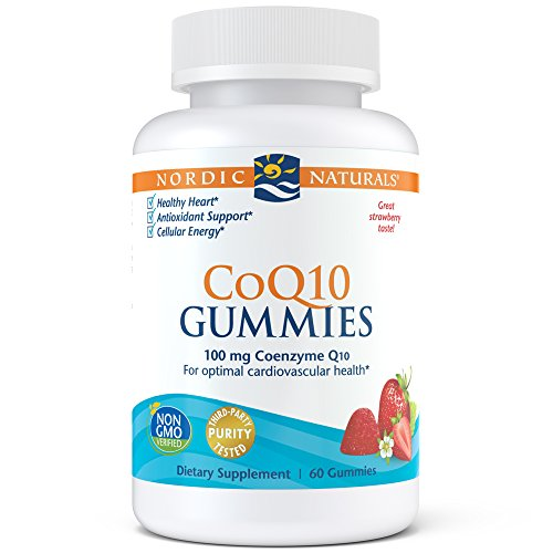 Antioxidant Cellular (Nordic Naturals CoQ10 Strawberry Gummies - A Powerful Antioxidant To Protect Against Free Radicals, Gives Cellular Energy By Aiding ATP Production and Helps Support Heart Health, Chewable, 60 Count)