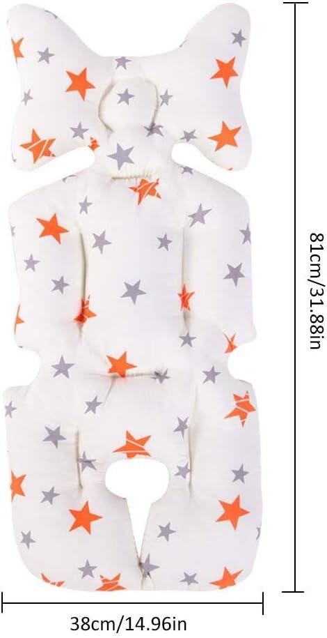 coussin rembourr/é pour poussette avec c/ôt/é /ét/é et c/ôt/é hiver mesurant 38 x 81 cm giraffe Tokkids Coussin pour poussette de coton prot/ège le si/ège de la poussette universelle