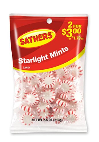 Sathers Starlight Mints, 7.5 Ounce Bag, Pack of 12 by Sathers