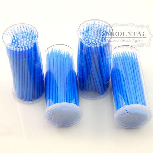 Dental 400 Pcs Deep Blue Disposable Micro Applicator Brush Bendable