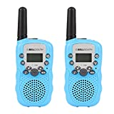 Beyond Hope T388 2Pcs Mini Walkie Talkie 3-5KM Range 22-Channel FRS/GMRS UHF Two-Way Radios Coloful Walkie-Talkie For Kids(Blue)
