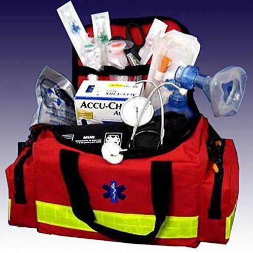 MP24 - Notfalltasche GR.L rot Nylon Pro1R PL1C gefüllt DIN 13157 für die professionelle Erstversorgung.