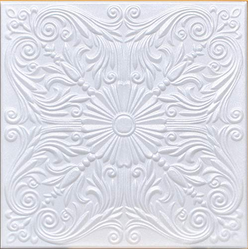 White Styrofoam Decorative Ceiling Tile Astana Package of 8 Tiles  Other Sellers Call This Spanish Silver and R139