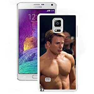 NOTE 4 Cover Case,Nude Captain America Muscle King Hero Art White Personalized Cool Design Samsung Galaxy Note 4 Case