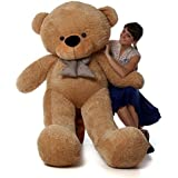 6 Foot Life-size Teddy Bear Amber Brown Color Huge Stuffed Animal Teddybear Shaggy Cuddles (Original)