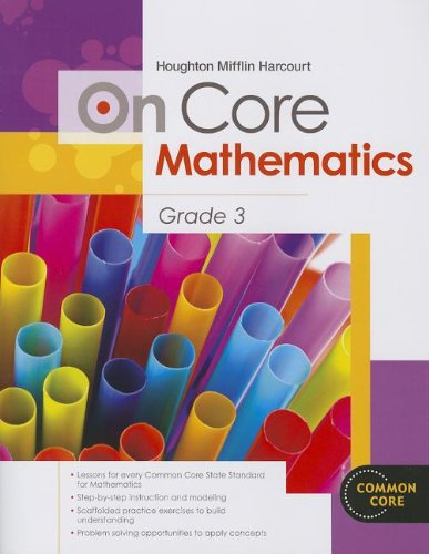 Houghton Mifflin Harcourt On Core Mathematics: Student Workbook Grade 3