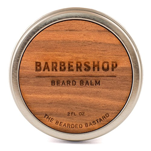 Barbershop Beard Balm by The Bearded Bastard | for A More Attractive & Healthy Beard | Mens Beard Balm, Essential Oils, Hydrating | All Natural, 2oz