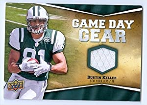Autograph Warehouse 39450 Dustin Keller Football Card New York Jets 2009 Upper Deck Game Day Gear Jersey