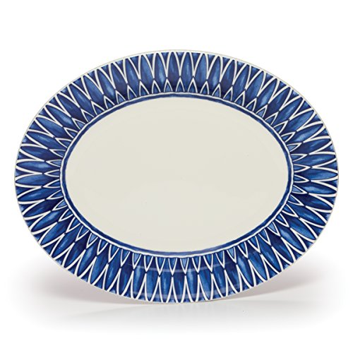 Mikasa Siena Oval Serving Platter, 14.75-Inch