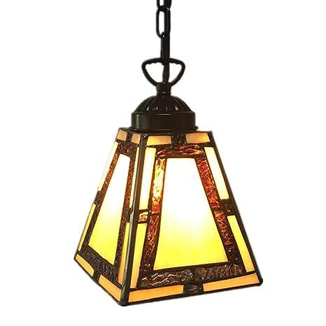 WLXJDJ Lámpara De Techo de Cristal de Colores Tiffany ...