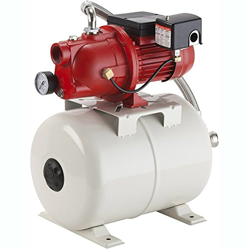 230v Low Water (Red Lion 97080503 Shallow Well Jet Pump and Tank Package, Cast Iron Pump with pressure Tank, 5.8 gallon)