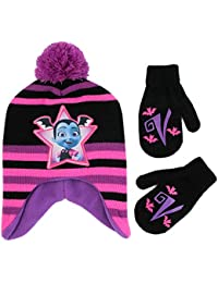 Girls' Toddler Vampirina Hat and Mittens Cold Weather Set,